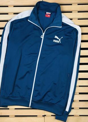 Шикарная мужская спортивная кофта олимпийка puma размер xl-xxl