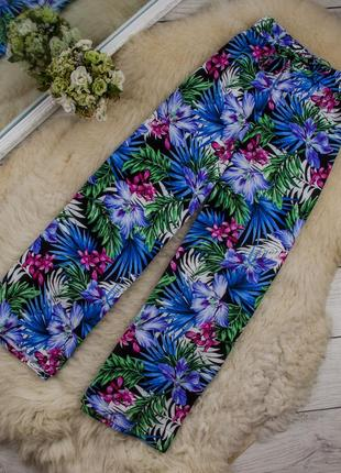Очень легкие яркие штаны брюки от riviera рр 14 наш 48