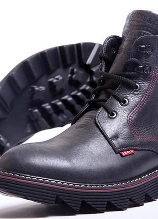 Ботинки мужские кожаные levis shoes marshall