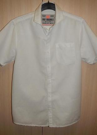 Рубашка тенниска next р.152см (12лет) лён хлопок