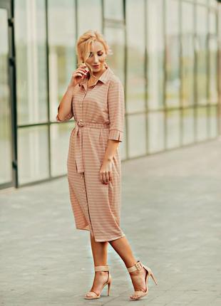 Платье на осень tm adeleys-original бежевого цвета