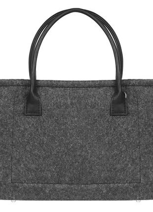Gb29 войлочная сумка gmakin berry черная с черным кожзамом