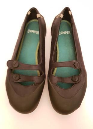 Camper! инетересные стильные брендовые кожаные мокассины