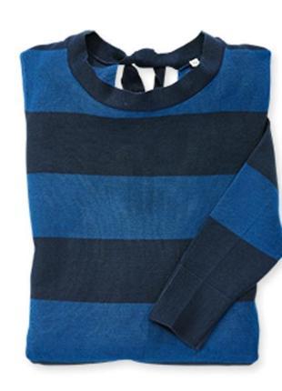 Женский тонкий пуловер с декором blue motion р. 44 евро