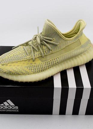 Полностью рефлективные кроссовки adidas yeezy в нежно желтом цвете (весна-лето-осень)😍