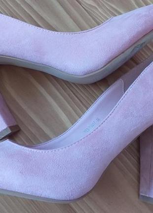 Туфли лодочки розовые с вышивкой
