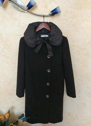 Класнейшее универсальное пальто с двумя воротниками