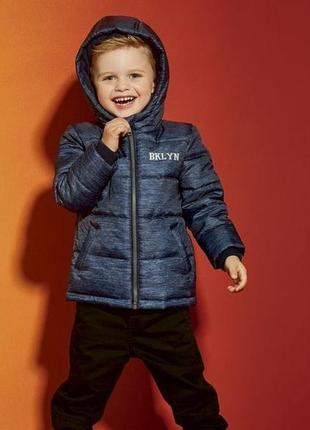 Теплая куртка lupilu для мальчиков еврозима демисезонная куртка