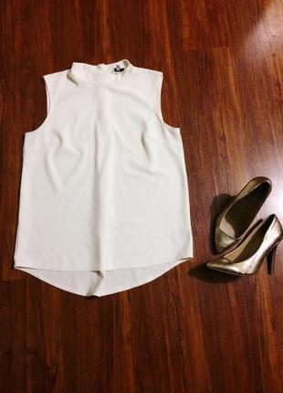Блуза белая удлиненная