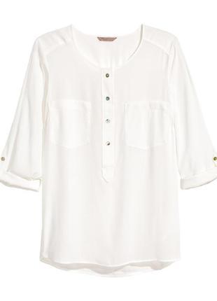 Белая блузка от h&m