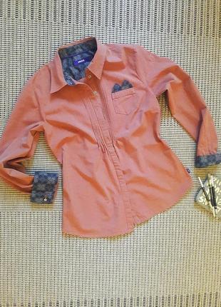 Приталенная хлопковая рубашка # mexx