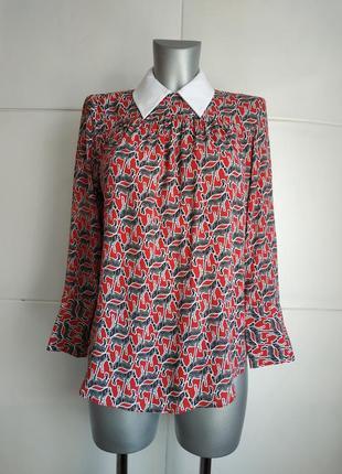 Стильная блуза zara с принтом зебры