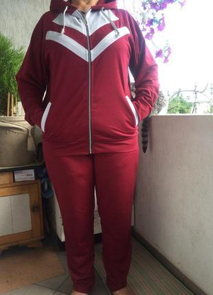 Стильный женский спортивный костюм 56-60 раз