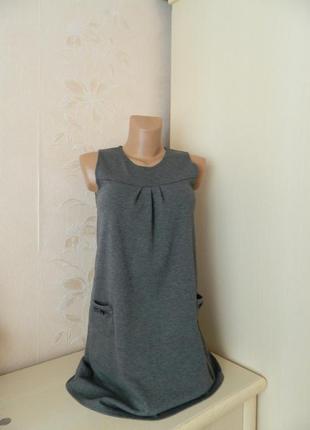 Плотное серое платье-туника george платье с кармашками платье-сарафан платье трапеция