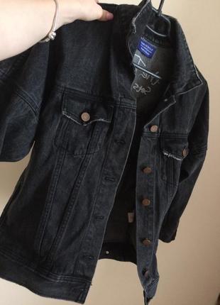 Оч крутая винтажная  джинсовка/джинсовая куртка  оверсайз🔥🔥6 фото