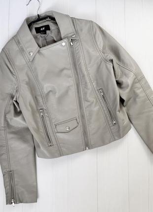 Кожаная куртка - косуха - must have h&m