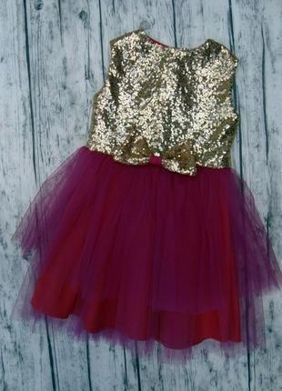 Нарядное фатиновое платье р104