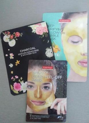 Набор корейских тканевых масок для жирной кожи
