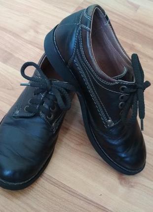 Шикарные школьные черные кожаные туфли для мальчика