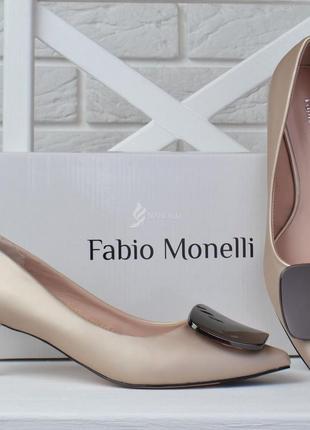 Туфли лодочки fabio monelli vogue 2 женские на каблуке шпильке бежевые6 фото