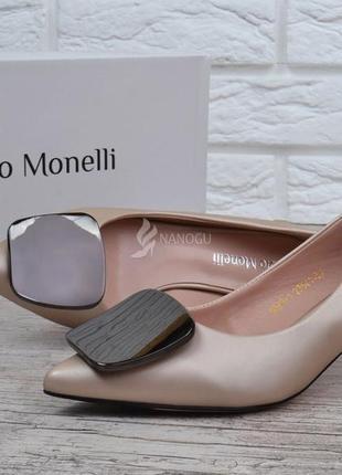 Туфли лодочки fabio monelli vogue 2 женские на каблуке шпильке бежевые4 фото