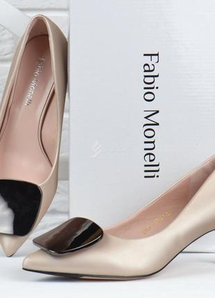 Туфли лодочки fabio monelli vogue 2 женские на каблуке шпильке бежевые