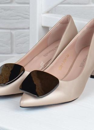 Туфли лодочки fabio monelli vogue 2 женские на каблуке шпильке бежевые2 фото