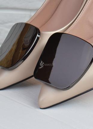 Туфли лодочки fabio monelli vogue 2 женские на каблуке шпильке бежевые5 фото