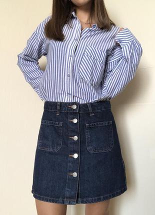 Джинсовая юбка bershka 34 размер