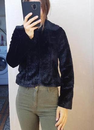 Жакет имитация меха каракуля  меховой жакет пиджак из меха