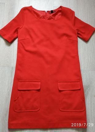 Платье женское mango теплое фактурной ткани, размер s