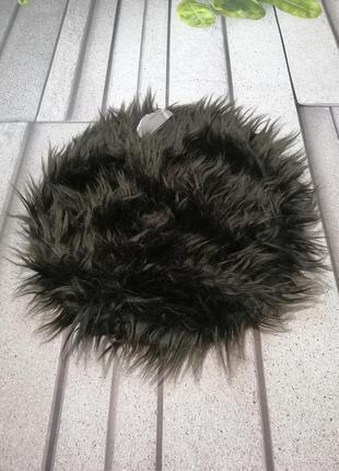 Накладка на стул круглая искусственный мех