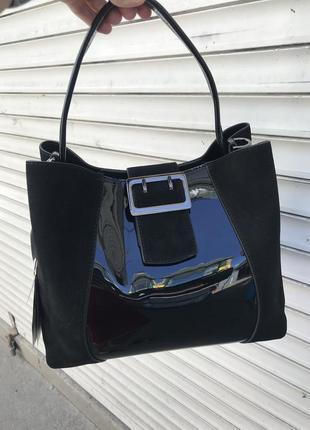 Кожаная сумка сумка кожаная замшевая лаковая