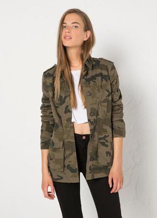 Камуфляжная защитная весенняя куртка ветровка h&m 🌿