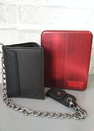 Мужской кошелек levi's c цепочкой, в подарочной упаковке, оригинал из сша