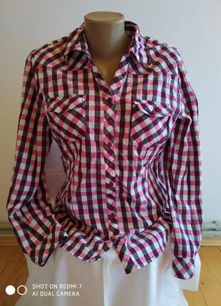 Жіноча клетку рубашка розмір-40-42