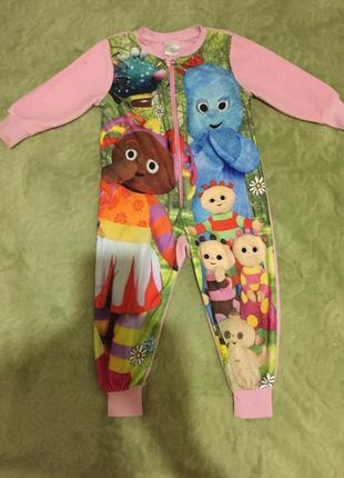 Флисовый человечек слип пижама