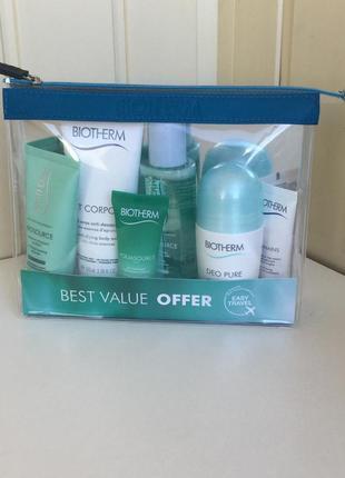 Biotherm travel set,крем,гель для лица,молочко,антиперспирант,