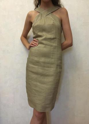 Льняное платье bgn