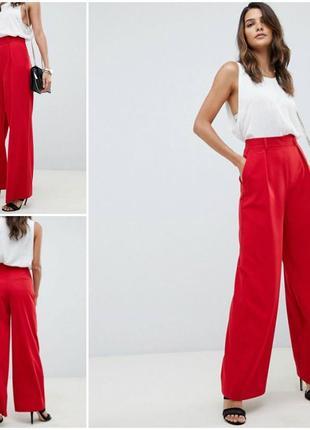 Asos оригинальные трендовые красные брюки