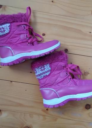 Сапоги ботинки зимна розовий розмір-38