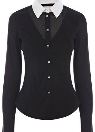 Шикарная элегантная чёрная рубашка karren millen