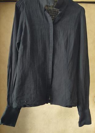 Классическая блуза полупрозрачная