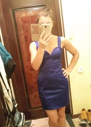 Стильное платье,цвета электрик h&m