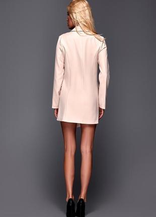 Бежевое платье пиджак плаття-піджак2 фото