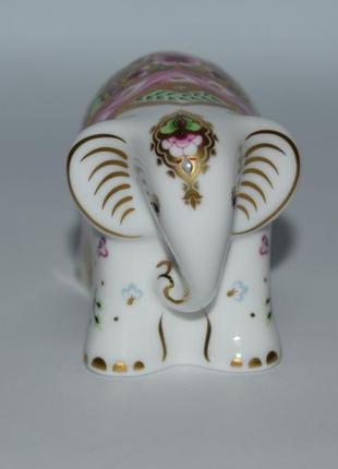 Новая фигурка слоник baby indian elephant 2005 royal crown derby england фарфор винтаж