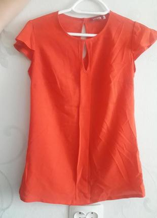 Оранжевая блузка