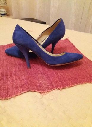 Туфли натуральный замш zara