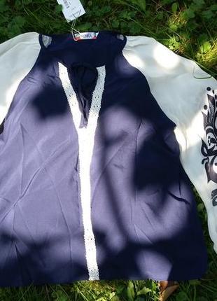 Нарядная блузка с вышивкой. блузка шифоновая