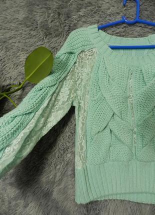 ✅ свитер с гипюром